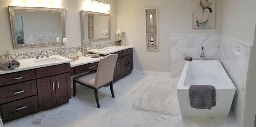 Image of a custom bathroom remodel